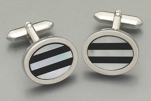 Cufflinks -3079 Mother of Pearl/Onyx