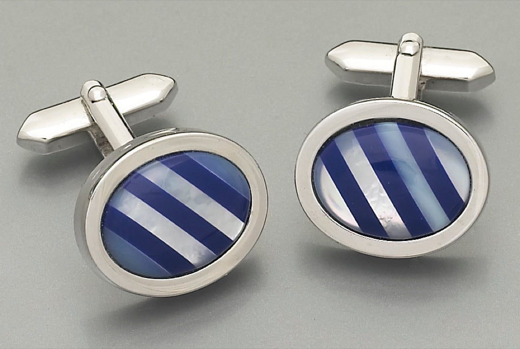 Cufflinks -3080 Mother of Pearl/Onyx
