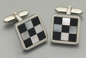 Cufflinks -3085 Mother of Pearl/Onyx