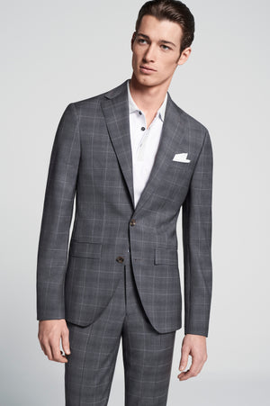 Jack Victor - Seasonal Suit Charcoal Check