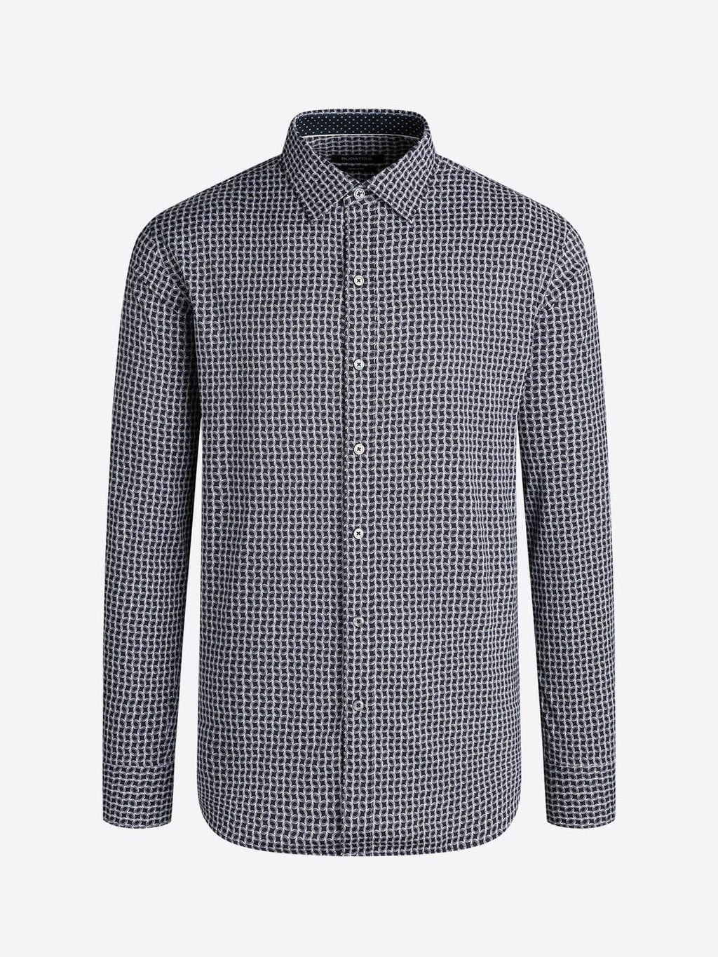 Bugatchi - Shaped Fit - Performance - Dress Shirt Caviar