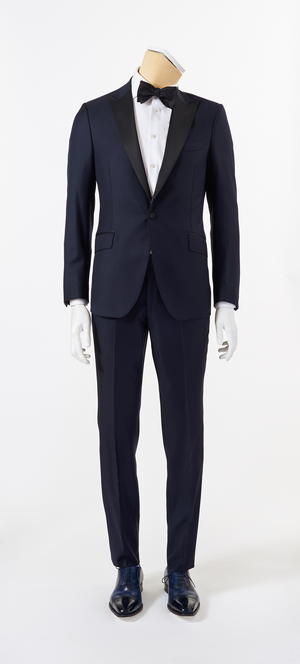 Calvaresi Suit - Navy Tuxedo with Black Trim