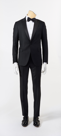 Calvaresi Suit - Black Tuxedo with Black Trim