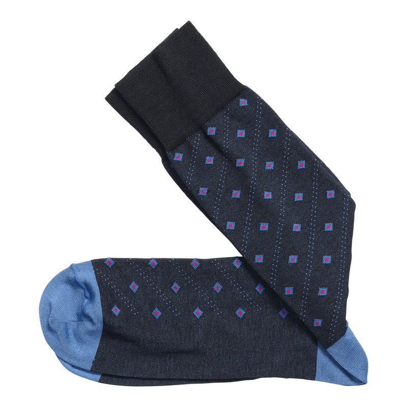 Johnston & Murphy Socks - Floating Diamonds