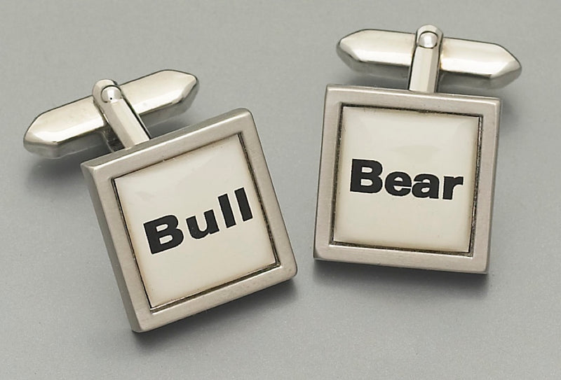 Cufflinks - Bull and Bear (words)