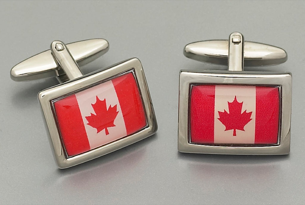 Cufflinks -Canadian Flag 5883