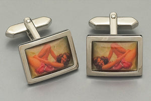 Cufflinks - Vintage Pin-up Girl