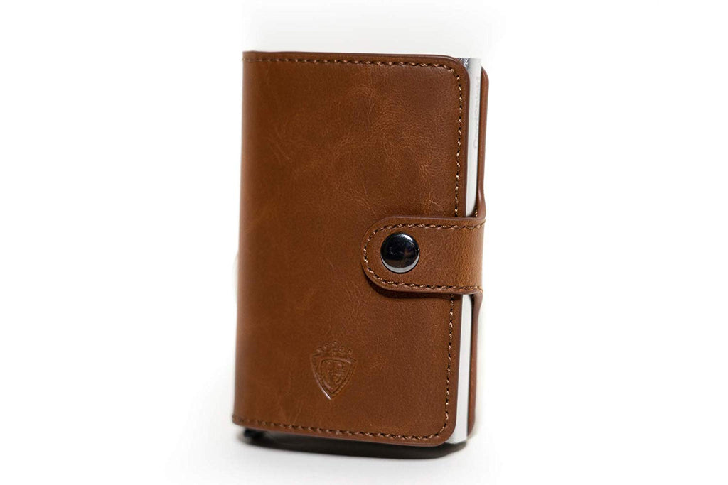 Card Shield - RFID Mini Wallet Camel