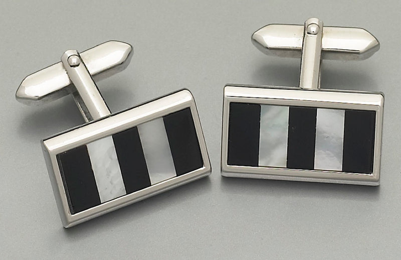 Cufflinks - 6934 Mother of Pearl/Onyx