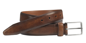 Johnston & Murphy Belt - Embossed Mini - Mahogany - 75-7641