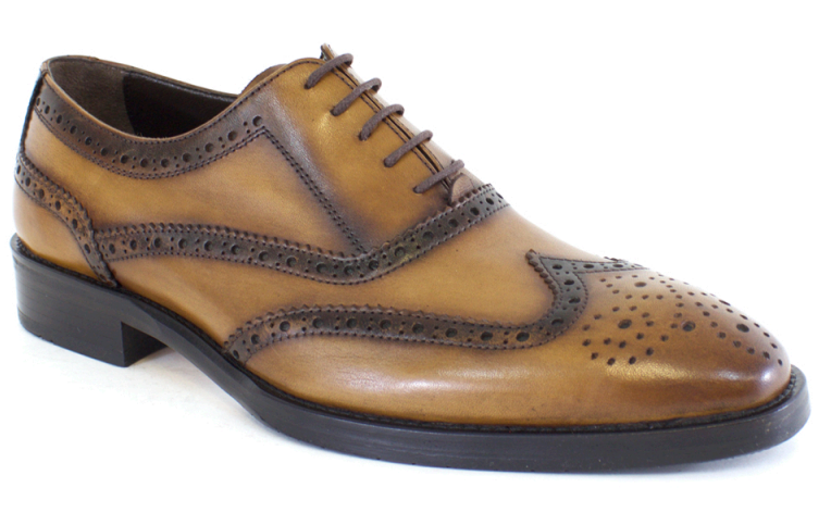 Lucas Edward Shoes - Light Tobacco Brougue Lace Up