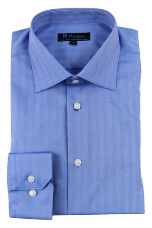 Polifroni Dress Shirt - Blu-350 Miami (slim fit)