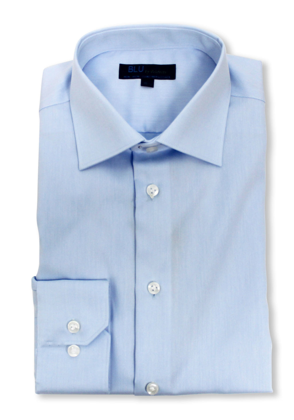 Polifroni Dress Shirt - Blu-360 - Powder Blue
