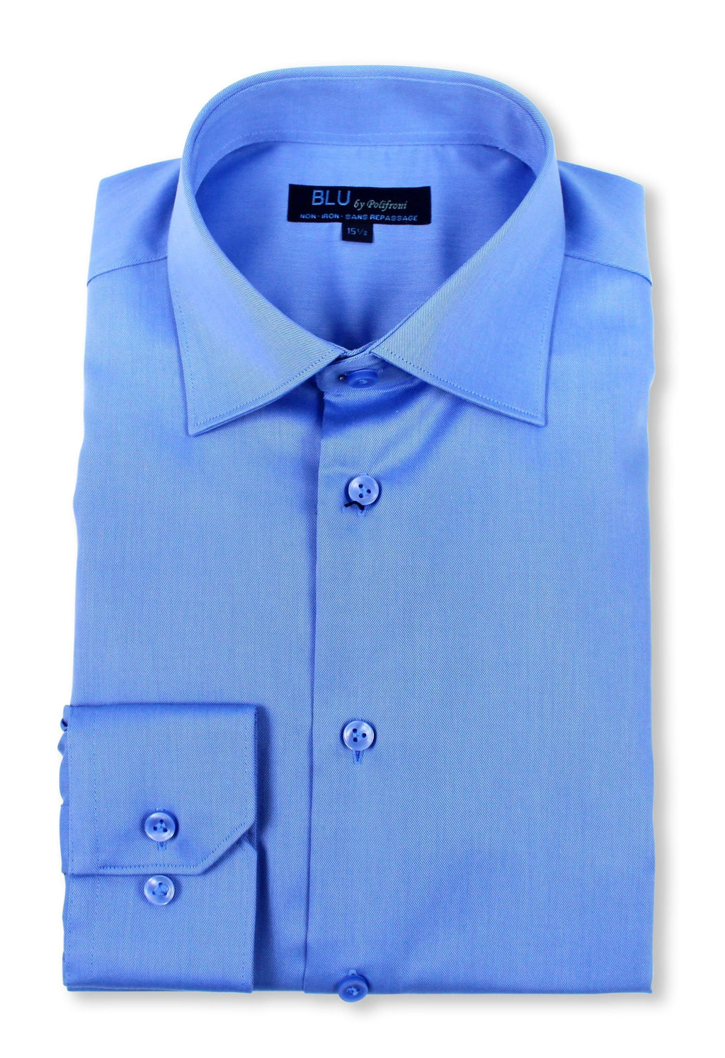 Blu by Polifroni Poplin Slim Fit Non-Iron Dress Shirt