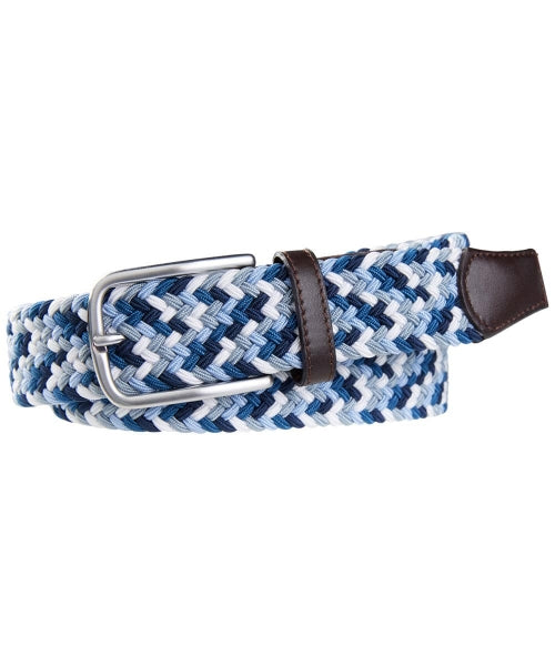 Lindenmann Men's Elastic Braided Belt Stunning Mens Belt Blue