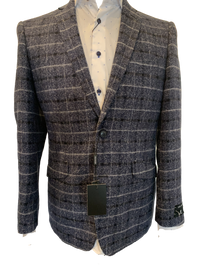 Clearance Men's Sports Jacket by Renoir Navy Check Mens Blazer BNWT