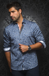 Au Noir - Casual Shirt - Casas Blue