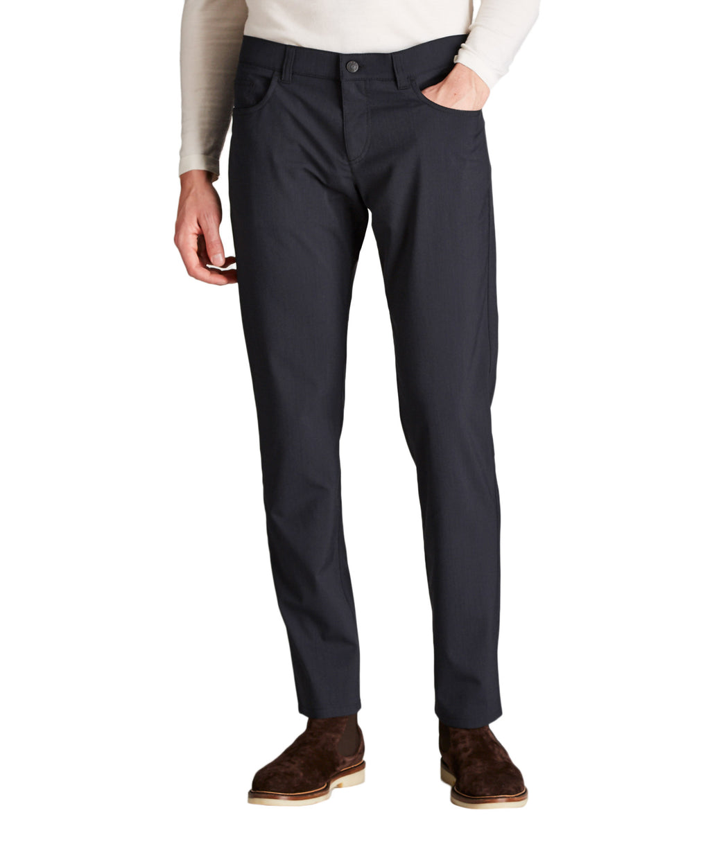 Alberto - Ceramica Pipe Slim Fit Solid Navy