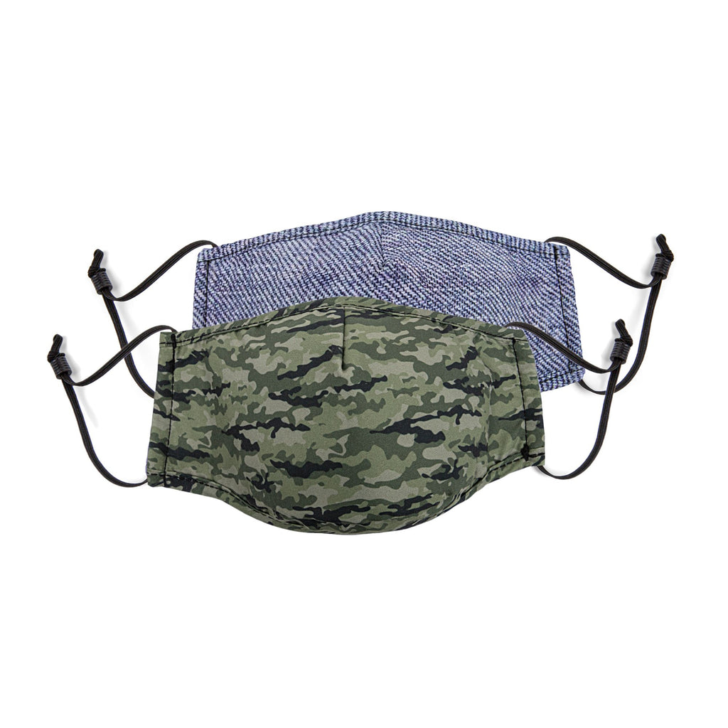 BONDSTREET Adult Mask (Camo + Denim) -  Adult