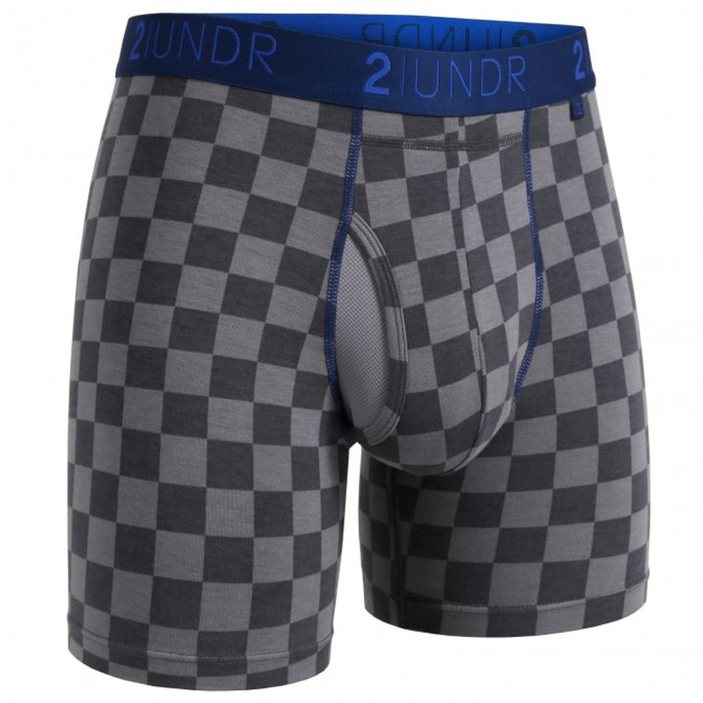 2UNDR Mens Luxury Underwear Swing Shift Boxer Briefs Check Mate