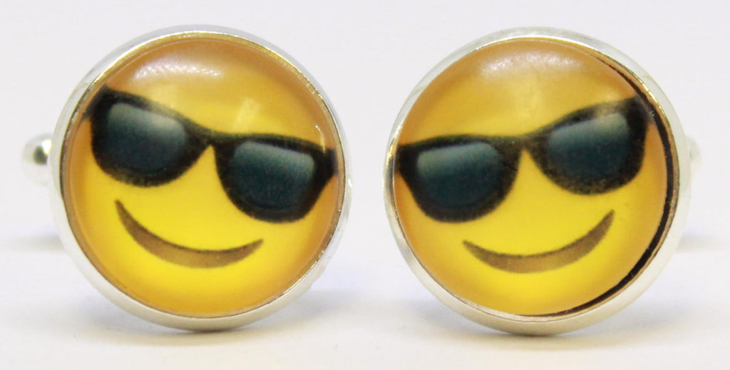 Cufflinks - Emoji Sunglasses