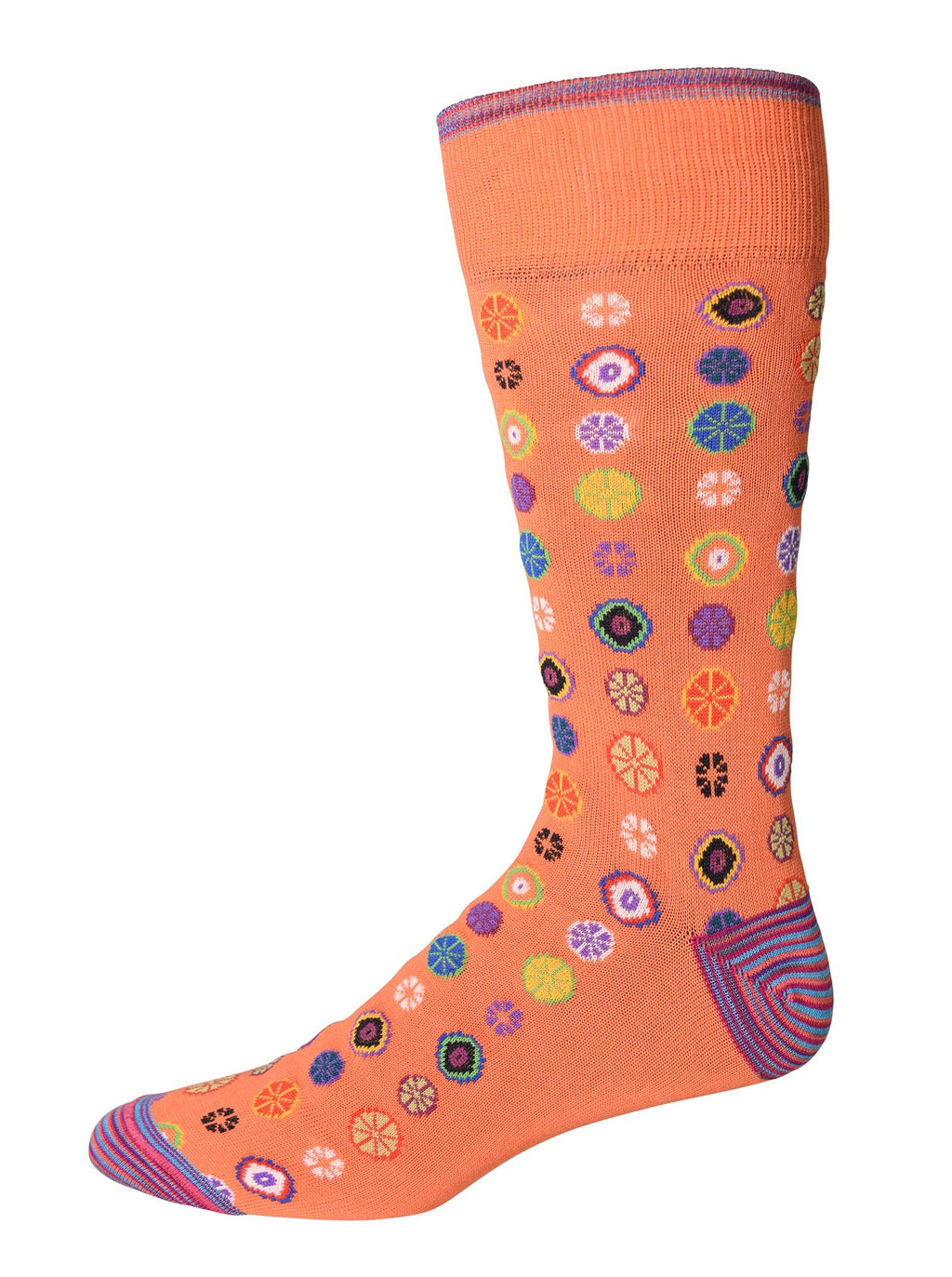 Robert Graham Socks - Fruit Cocktail Orange