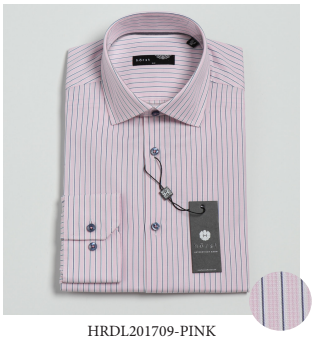 Horst - Dress Shirt - HRDL201709 - Pink Stripe