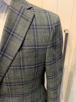 Jack Victor Men's Blazer - Green Check Mens Sports Jacket Made In Canada BNWT