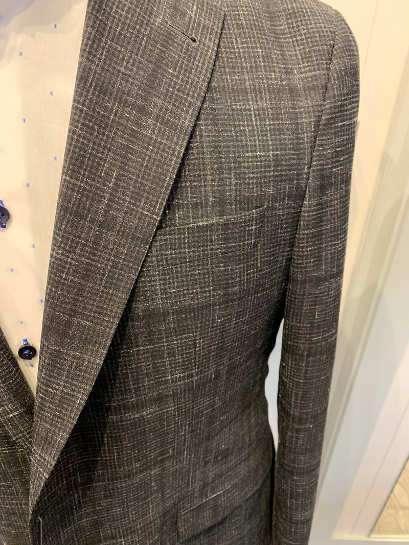 Jack Victor Men's Blazer -Black / Charcoal Check Mens Sports Jacket Made in Canada BNWT