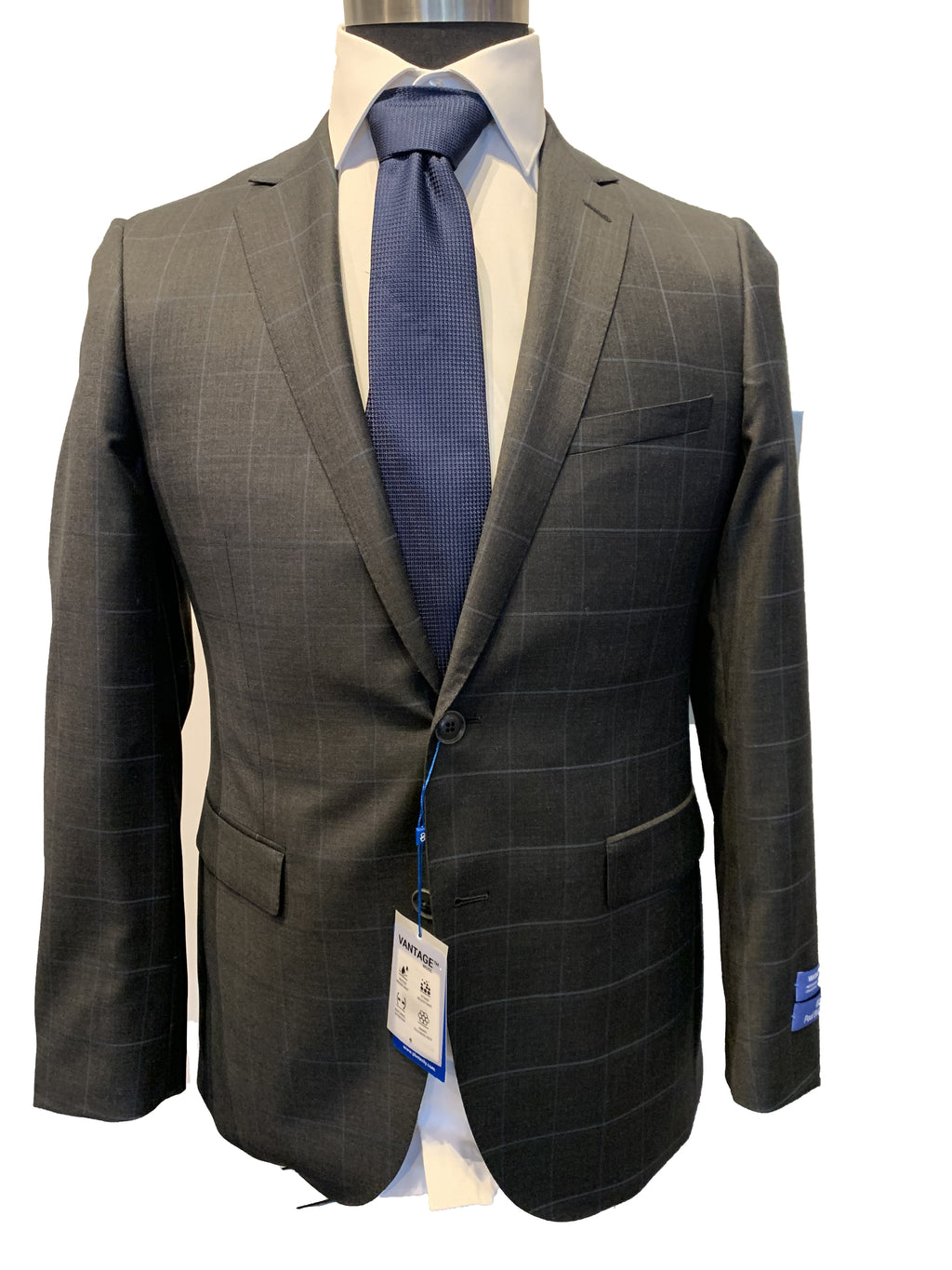 Paul Betenly Suit - Charcoal Windowpane