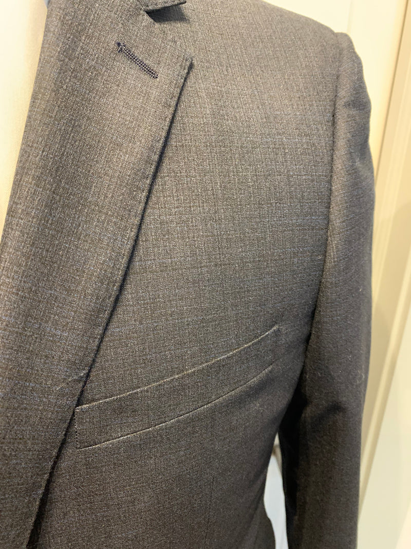 Paul Betenly Suit - Charcoal With Blue