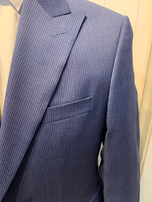 Jack Victor Men's Suit - Engel CT Blue Pin Stripe Wool Suit Made in Canada BNWT