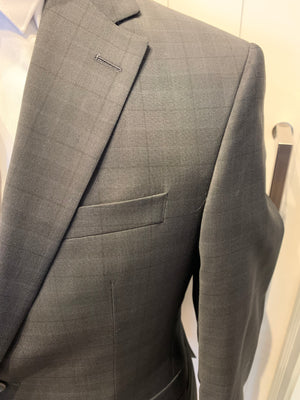 Jack Victor Men's Wool Suit - Urban CT Black Check Made in Canada BNWT