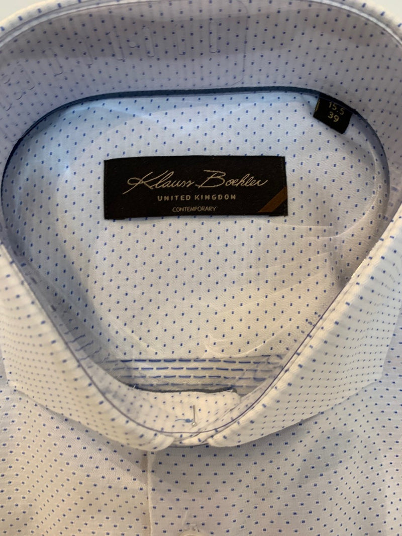 Klauss Boehler - Dress Shirt - KLDL201758 - White/Blue Dot