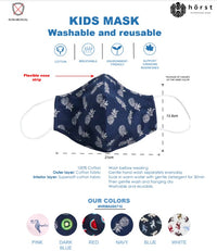KIDS - Horst Masks Ages 3-6 / Washable & Reusable / 5 PACK