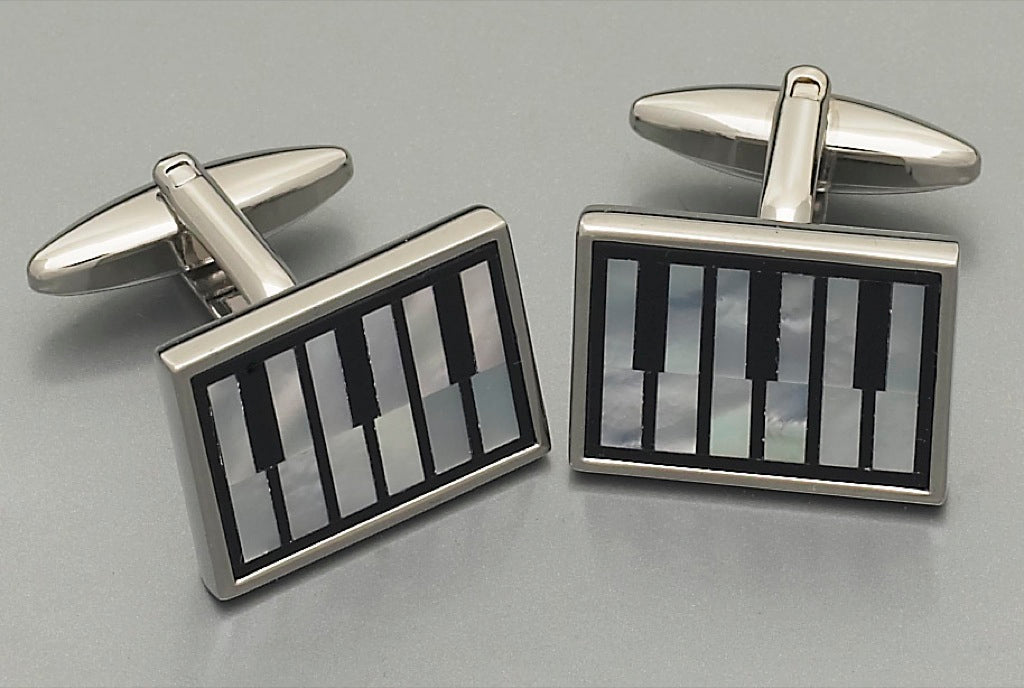 Cufflinks - L9935 Mother of Pearl/Onyx