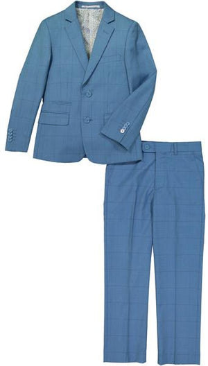 Isaac Mizrahi - Light Blue Check 2 Piece Suit - Boys