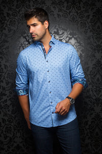 Au Noir - Casual Shirt - Milos Light Blue