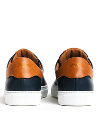 Good Man Brand - LEGEND LO TOP SNEAKER - NAVY / VACHETTA