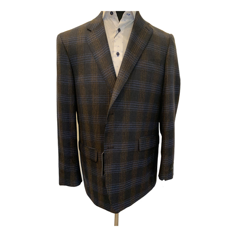 Clearance - Sports Jacket - Paul Betenly -  Brown, Navy Check