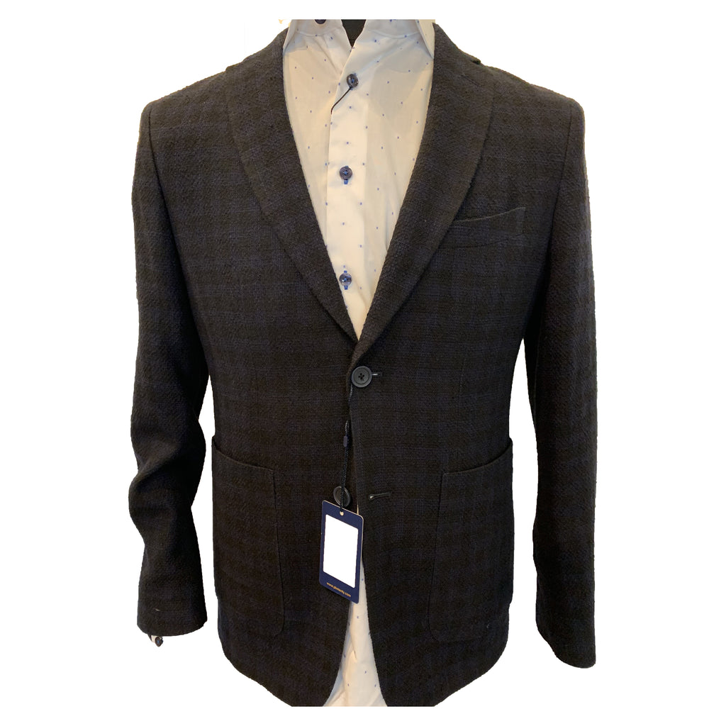 Clearance - Sports Jacket - Paul Betenly - Black With Navy Check