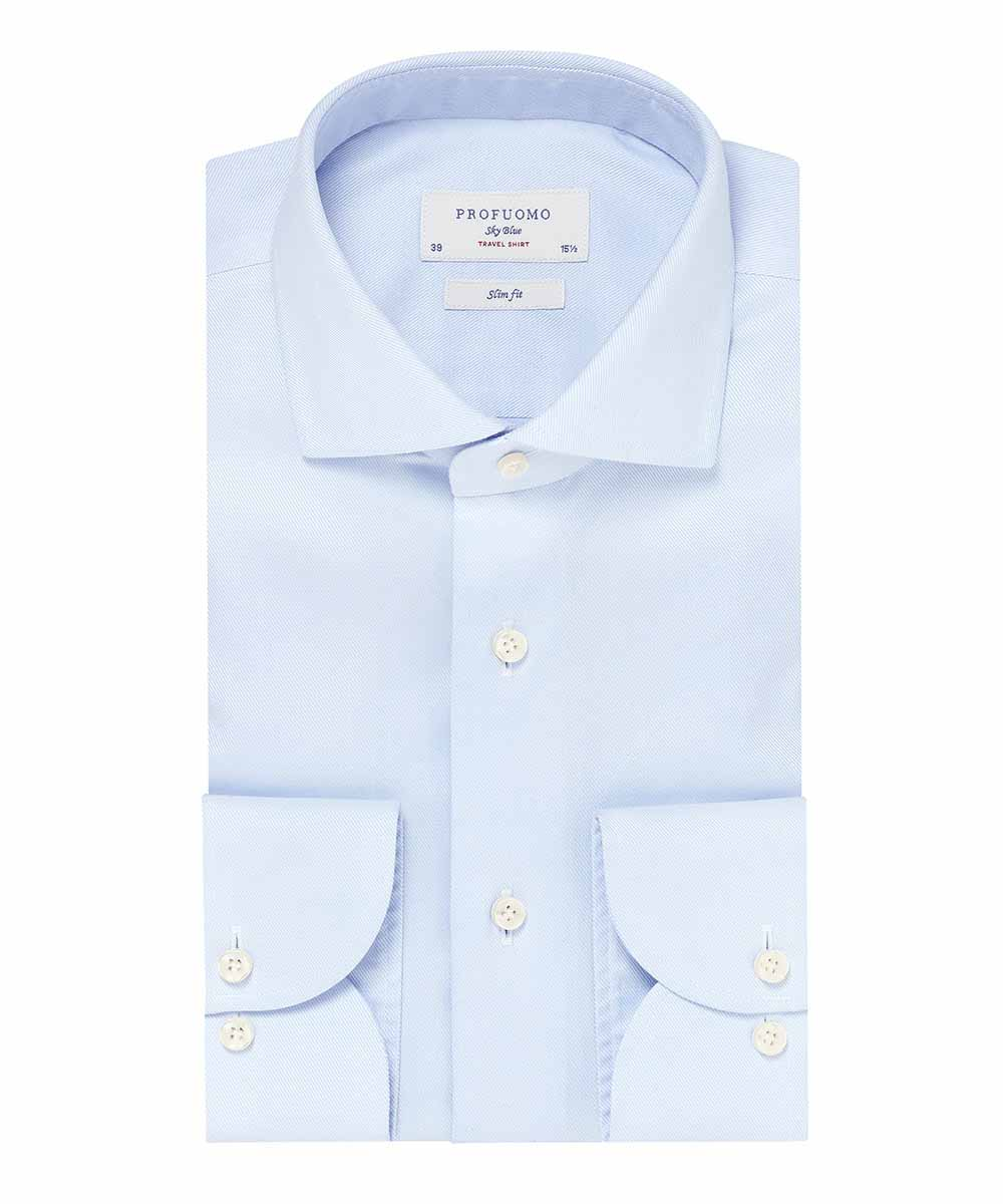 Profuomo - Travel Dress Shirt - Light Blue