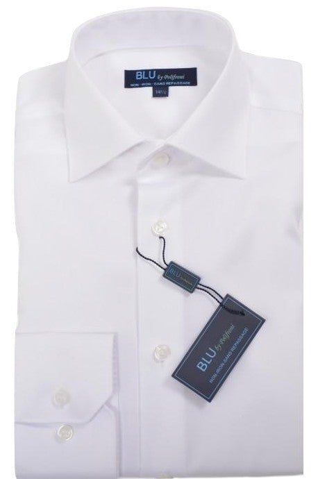 Polifroni Dress Shirt - Blu-360 Miami (slim fit) - White
