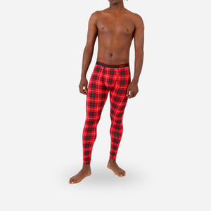 BN3TH - Men's Long Underwear - FIRESIDE PLAID RED