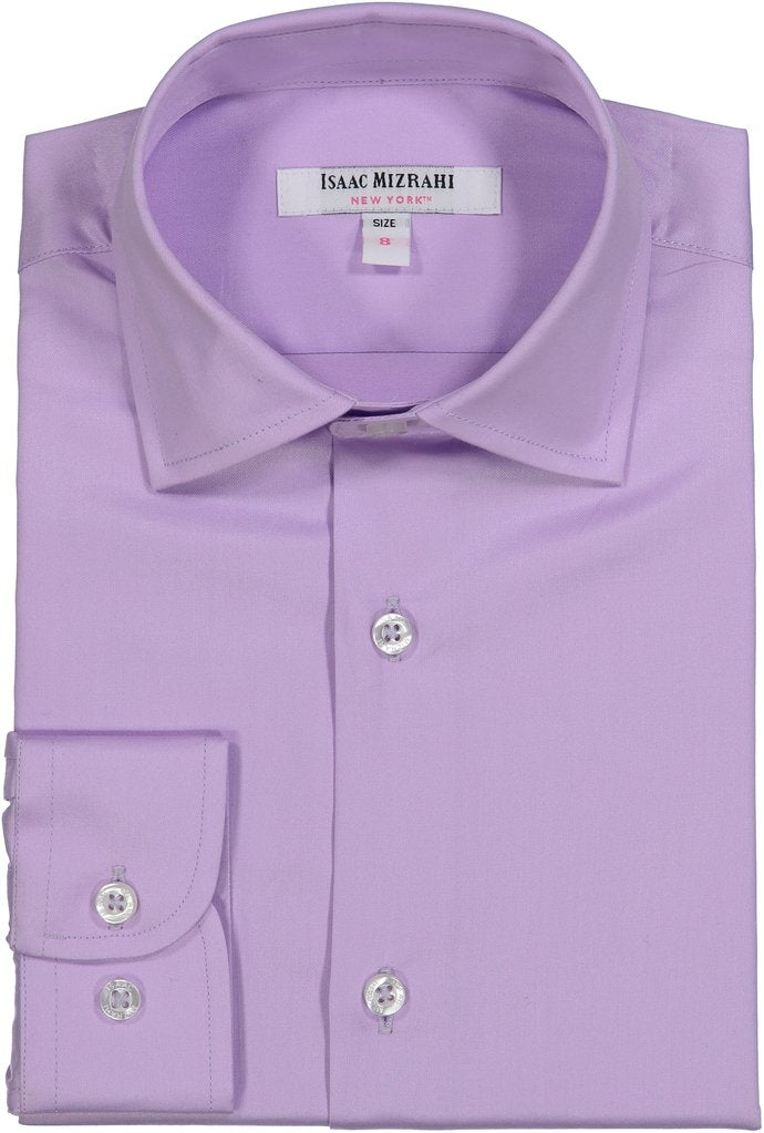 Isaac Mizrahi -  Purple Dress Shirt - Boys