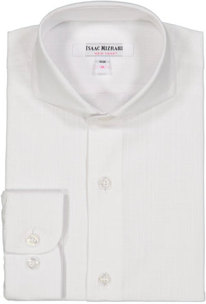 Isaac Mizrahi - White Dress Shirt - Boys Cotton Shirt