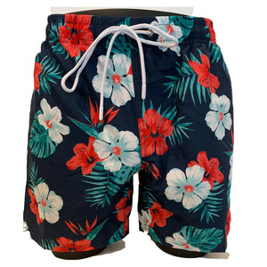Soul Of London Swim Trunks / Shorts - Navy Floral