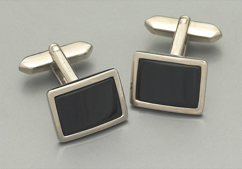 Cufflinks - Sterling Silver and Onyx SS405