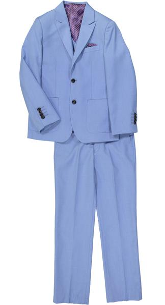 Isaac Mizrahi - 2PC Textured Suit Sky Blue - Boys