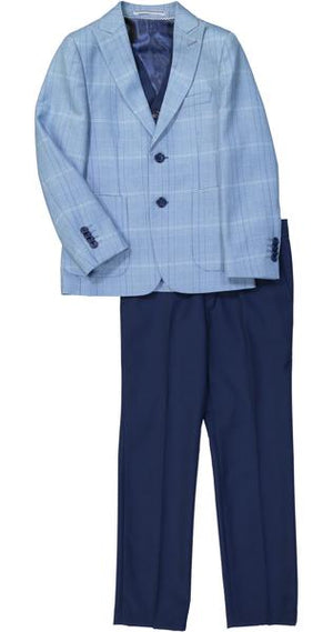 Isaac Mizrahi - Plaid Suit With Solid Pants - Boys